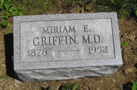 GRIFFIN, MIRIAM E., M.D. - Athens County, Ohio | MIRIAM E., M.D. GRIFFIN - Ohio Gravestone Photos