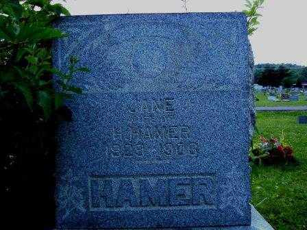 HAMER, JANE H - Athens County, Ohio | JANE H HAMER - Ohio Gravestone Photos