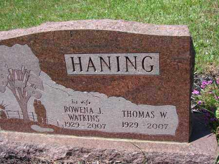 HANING, THOMAS W - Athens County, Ohio | THOMAS W HANING - Ohio Gravestone Photos