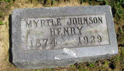 JOHNSON HENRY, MYRTLE - Athens County, Ohio | MYRTLE JOHNSON HENRY - Ohio Gravestone Photos