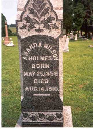WILSON HOLMES, AMANDA - Athens County, Ohio | AMANDA WILSON HOLMES - Ohio Gravestone Photos