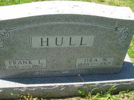 HULL, FRANK L. - Athens County, Ohio | FRANK L. HULL - Ohio Gravestone Photos
