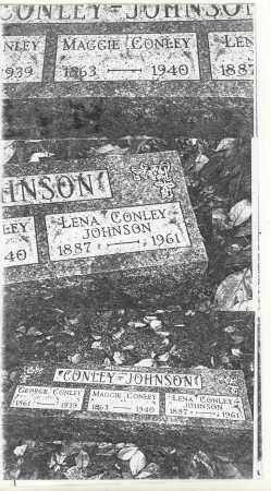 MANLEY JOHNSON CONLEY, LENA - Athens County, Ohio | LENA MANLEY JOHNSON CONLEY - Ohio Gravestone Photos