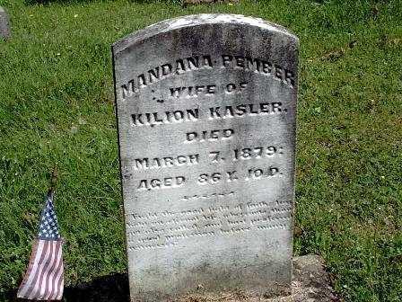 KASLER, MANDANA - Athens County, Ohio | MANDANA KASLER - Ohio Gravestone Photos