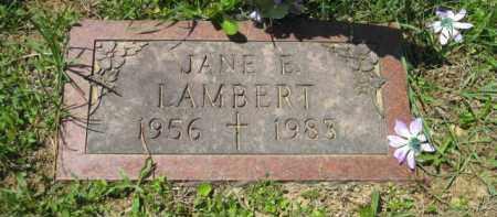 LAMBERT, JANE E. - Athens County, Ohio | JANE E. LAMBERT - Ohio Gravestone Photos