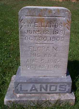LANDS, W.E. - Athens County, Ohio | W.E. LANDS - Ohio Gravestone Photos