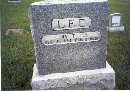 LEE, JOHN T. - Athens County, Ohio | JOHN T. LEE - Ohio Gravestone Photos