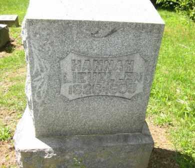 LIEUELLEN, HANNAH - Athens County, Ohio | HANNAH LIEUELLEN - Ohio Gravestone Photos
