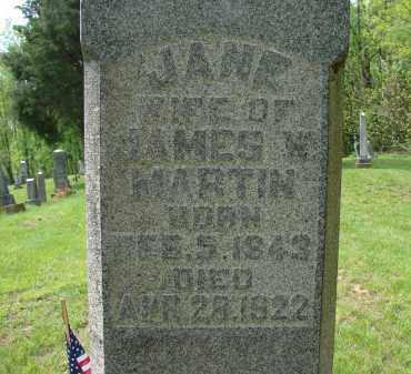 MARTIN, MARY JANE - Athens County, Ohio | MARY JANE MARTIN - Ohio Gravestone Photos