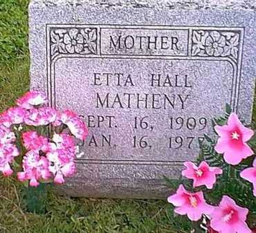 MATHENY, ETTA HALL - Athens County, Ohio | ETTA HALL MATHENY - Ohio Gravestone Photos