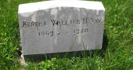 WALLACE MCVAY, BERTHA - Athens County, Ohio | BERTHA WALLACE MCVAY - Ohio Gravestone Photos