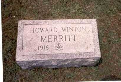MERRITT, HOWARD WINTON - Athens County, Ohio | HOWARD WINTON MERRITT - Ohio Gravestone Photos
