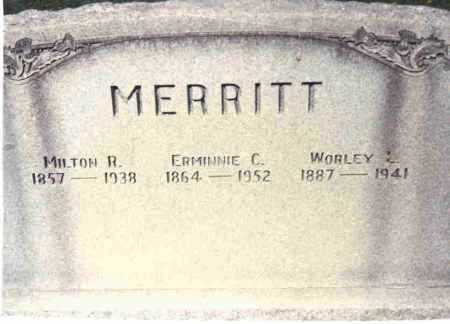 MERRITT, WORLEY L. - Athens County, Ohio | WORLEY L. MERRITT - Ohio Gravestone Photos