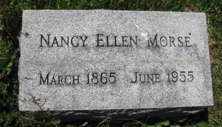 MORSE, NANCY ELLEN - Athens County, Ohio | NANCY ELLEN MORSE - Ohio Gravestone Photos