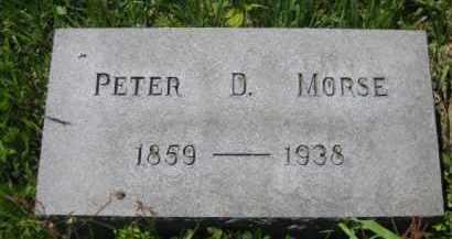 MORSE, PETER D. - Athens County, Ohio | PETER D. MORSE - Ohio Gravestone Photos