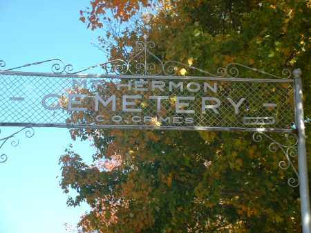 CEMETERY, MT. HERMON - Athens County, Ohio | MT. HERMON CEMETERY - Ohio Gravestone Photos