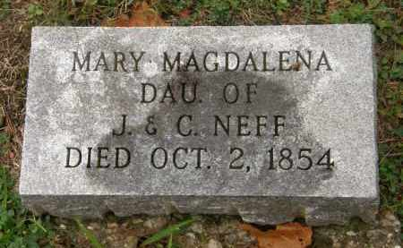 NEFF, MARY MAGDALENA - Athens County, Ohio | MARY MAGDALENA NEFF - Ohio Gravestone Photos