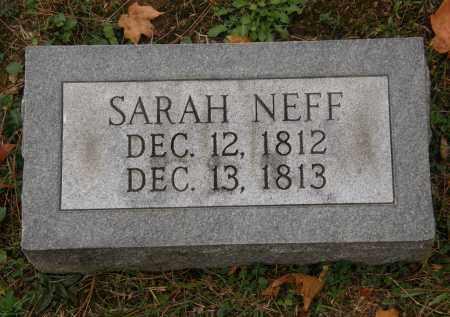 NEFF, SARAH - Athens County, Ohio | SARAH NEFF - Ohio Gravestone Photos