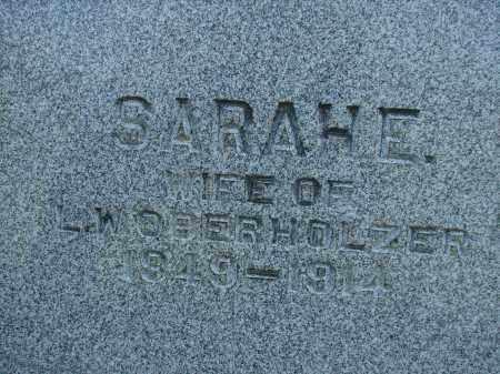 OBERHOLZER, SARAH E - Athens County, Ohio | SARAH E OBERHOLZER - Ohio Gravestone Photos