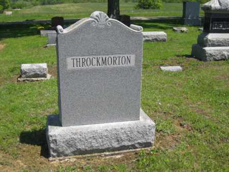 THROCKMORTON, MONUMENT - Athens County, Ohio | MONUMENT THROCKMORTON - Ohio Gravestone Photos