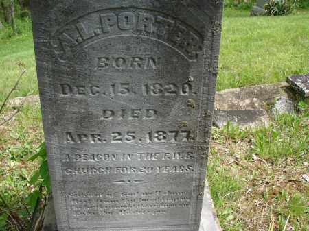 PORTER, A. L. - Athens County, Ohio | A. L. PORTER - Ohio Gravestone Photos