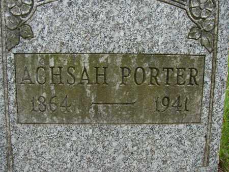 PORTER, ACHSAH - Athens County, Ohio | ACHSAH PORTER - Ohio Gravestone Photos