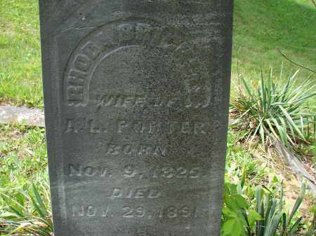 BRICKLES PORTER, RHODA - Athens County, Ohio | RHODA BRICKLES PORTER - Ohio Gravestone Photos