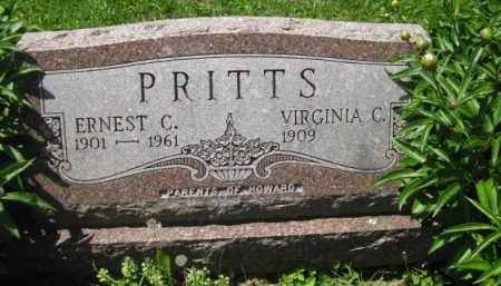 PRITTS, ERNEST C. - Athens County, Ohio | ERNEST C. PRITTS - Ohio Gravestone Photos
