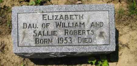 ROBERTS, ELIZABETH - Athens County, Ohio | ELIZABETH ROBERTS - Ohio Gravestone Photos