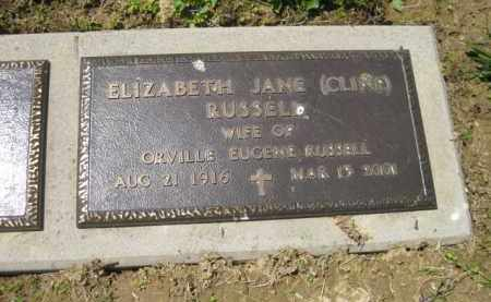 CLINE RUSSELL, ELIZABETH JANE - Athens County, Ohio | ELIZABETH JANE CLINE RUSSELL - Ohio Gravestone Photos