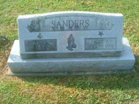 SANDERS, ALICE M - Athens County, Ohio | ALICE M SANDERS - Ohio Gravestone Photos