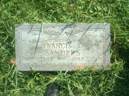 SANDERS, FRANCIS LEO - Athens County, Ohio | FRANCIS LEO SANDERS - Ohio Gravestone Photos