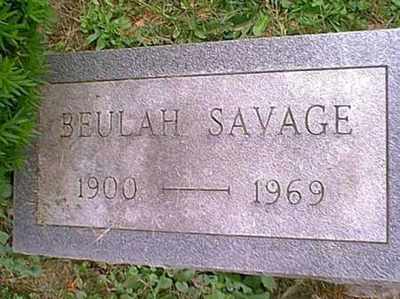 SAVAGE, BEULAH - Athens County, Ohio | BEULAH SAVAGE - Ohio Gravestone Photos