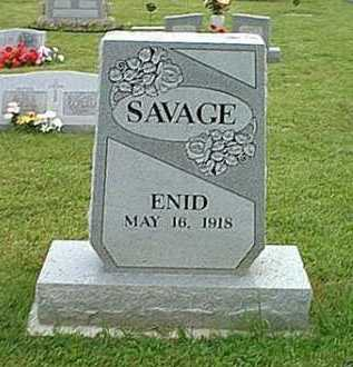 SAVAGE, ENID - Athens County, Ohio | ENID SAVAGE - Ohio Gravestone Photos