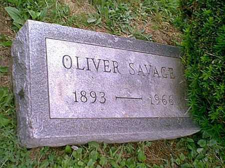 SAVAGE, OLIVER - Athens County, Ohio | OLIVER SAVAGE - Ohio Gravestone Photos
