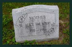 SHUMWAY, ALICE - Athens County, Ohio | ALICE SHUMWAY - Ohio Gravestone Photos