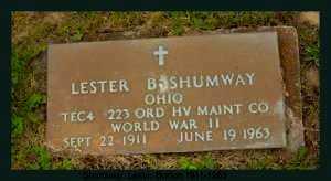 SHUMWAY, LESTER BURTON - Athens County, Ohio | LESTER BURTON SHUMWAY - Ohio Gravestone Photos