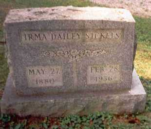 DAILEY SICKELS, IRMA - Athens County, Ohio | IRMA DAILEY SICKELS - Ohio Gravestone Photos