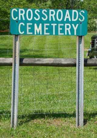 SIGN, CROSSROADS CEMETERY - Athens County, Ohio | CROSSROADS CEMETERY SIGN - Ohio Gravestone Photos