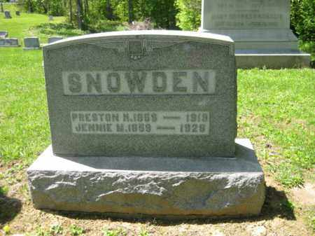 SNOWDEN, JENNIE M. - Athens County, Ohio | JENNIE M. SNOWDEN - Ohio Gravestone Photos