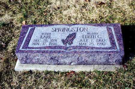 SPRINGSTON, EARL - Athens County, Ohio | EARL SPRINGSTON - Ohio Gravestone Photos