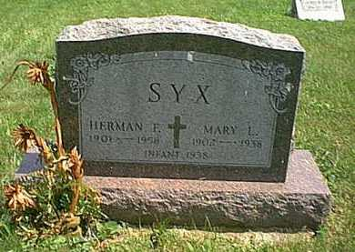 SYX, MARY L. - Athens County, Ohio | MARY L. SYX - Ohio Gravestone Photos