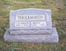 THROCKMORTON, T. CLARENCE - Athens County, Ohio | T. CLARENCE THROCKMORTON - Ohio Gravestone Photos