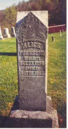 TOWNSEND, ALICE - Athens County, Ohio | ALICE TOWNSEND - Ohio Gravestone Photos
