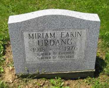 EAKIN URDANG, MIRIAM - Athens County, Ohio | MIRIAM EAKIN URDANG - Ohio Gravestone Photos