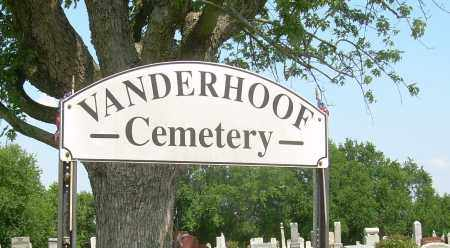 VANDERHOOF, CEMETERY SIGN - Athens County, Ohio | CEMETERY SIGN VANDERHOOF - Ohio Gravestone Photos