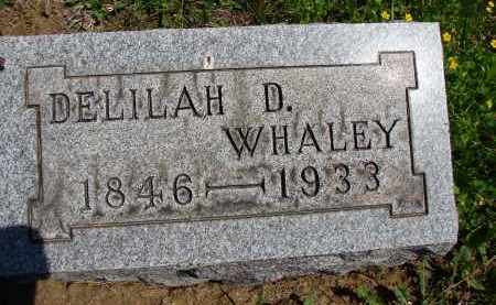 WHALEY, DELILAH D - Athens County, Ohio | DELILAH D WHALEY - Ohio Gravestone Photos