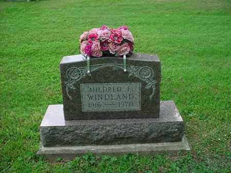 WINDLAND, MILDRED E. - Athens County, Ohio | MILDRED E. WINDLAND - Ohio Gravestone Photos
