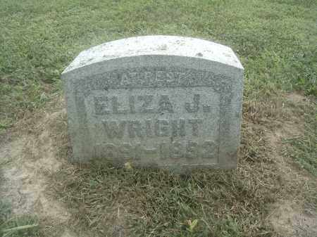 WRIGHT, ELIZA J - Athens County, Ohio | ELIZA J WRIGHT - Ohio Gravestone Photos