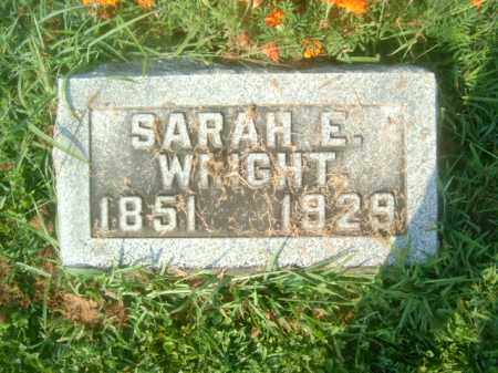 WRIGHT, SARAH E. - Athens County, Ohio | SARAH E. WRIGHT - Ohio Gravestone Photos